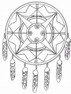 Ausmalbilder Indianer Mit Pfeil Und Bogen Indianisches Mandala Mit Pfeil Und Bogen Ausmalbild