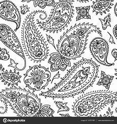 seamless indian floral paisley pattern textile print