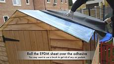 gartenhaus dach abdichten how to waterproof your shed roof with epdm