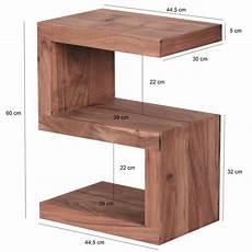 Tisch 60 Cm Hoch - weran beistelltisch mumbai massivholz akazie s cube 60 cm