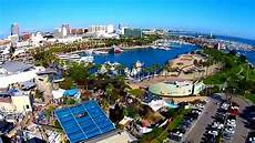 skycam california aerial video above rainbow harbor in long beach youtube
