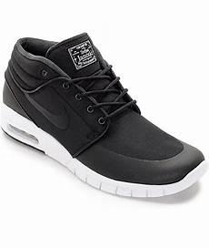 nike sb janoski air max mid black white skate shoes zumiez