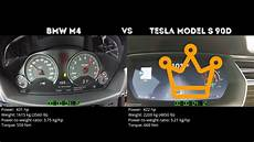 Bmw M4 0 100 - bmw m4 vs tesla model s 90d 0 100 km h