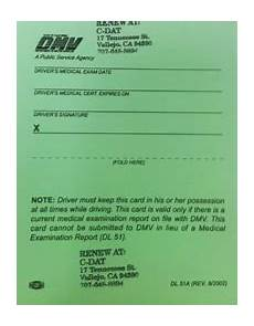 cal dmv issues guidance on new medical certification
