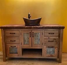 waschtisch holz landhausstil rustic vanity 48 reclaimed barn wood w tin doors