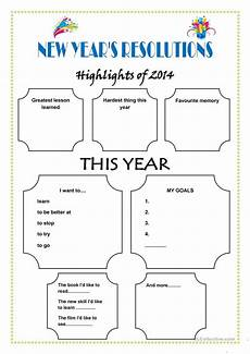 new year worksheets printable free 19413 new year s resolutions worksheet free esl printable worksheets made by teachers