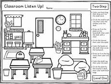multi step directions worksheets 11737 classroom listen up following directions freebie by panda speech
