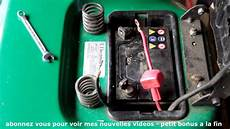 le sur batterie comment d 233 monter une batterie sur un tracteur tondeuse