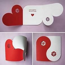 valentinskarte basteln rot wei 223 ideen geschenke deko