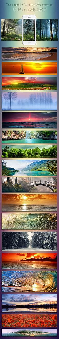 Panoramic Iphone Wallpaper by Ios 7 Panoramic Wallpaper Pack For Iphone Nature By