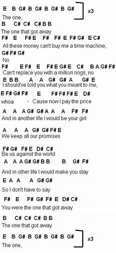 flute sheet music the one that got away