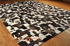Kuhfell Teppich Patchwork - kuhfell teppich braun weiss patchwork 240 x 180 cm