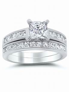 wedding rings sets at walmart factory 925 sterling silver princess cut bridal