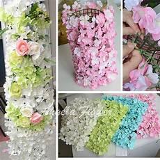 2019 diy colorful hydrangea wedding decor flower pillar