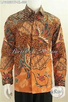 baju hem lengan panjang istimewa berbahan batik kombinasi tulis motif mewah pakaian batik full