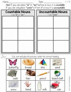 countable and uncountable nouns sort worksheet l 1 1 b by
