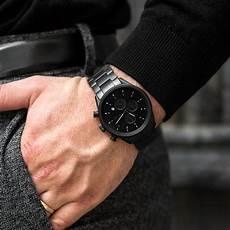 s chronograph matte black steel vincero watches