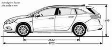 Opel Astra K Sports Tourer Abmessungen Technische