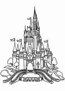 disneyland castle return to childhood coloring pages