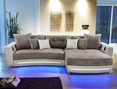sofa mit led multimedia sofa larenio hifi wohnlandschaft 322x200cm grau