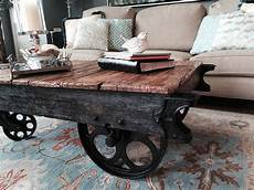 mill cart coffee table hometalk factory cart coffee table