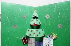 pop up weihnachtskarten selbst gestalten und dekorieren