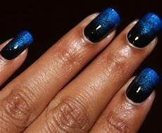 black and blue gradient nails black and blue nails blue