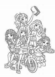 lego friends all coloring page for printable free