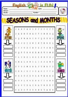 months and seasons activities worksheets 14767 exercises months of the year wordsearch
