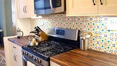 Removable Kitchen Backsplash Install A Rental Friendly Removable Kitchen Backsplash