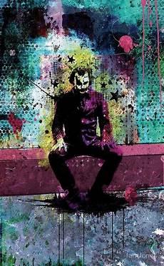 Colorful Joker Neon Wallpaper