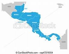 carte pays amerique centrale