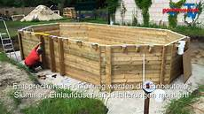 Aufstellpool Rechteckig Holz - holzpool proswell by procopi