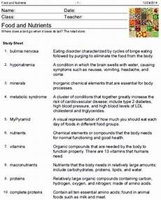 health education vocabulary worksheets by educational network exchange