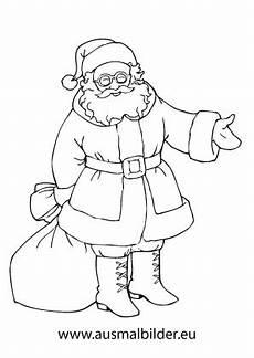 Malvorlage Weihnachtsmann Einfach Ausmalbild Nikolaus Mit Seinem Sack Ausmalbilder