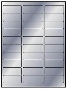 3 000 metallic silver foil 2 5 8 1 laser only labels 100 sheets 30 labels per sheet use
