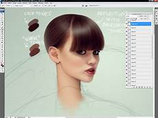 muddy colors how to digitally paint hair