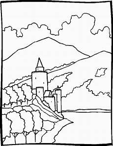 Ausmalbilder Drucken Landschaften Ausmalbild Landschaften Ausmalbilder1001 De