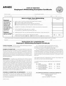 ar withholding form employee s withholding exemption certificate arkansas