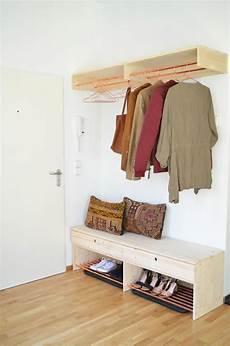 Make It Boho Diy Holz Kupfer Garderobe Und Schuhbank