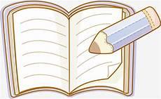 Buku Kartun Klip Buku Pensil Pembelajaran Png Dan Vektor