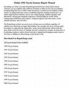 service repair manual free download 1992 toyota 4runner interior lighting 1996 toyota 4runner repair manual online
