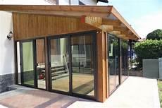 veranda in legno per terrazzo veranda in legno con copertura policarbonato strutturedoro