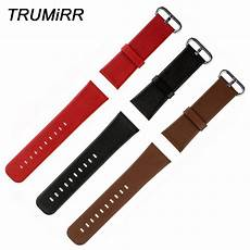 22mm Colorful Pattern Band by 22mm 24mm Genuine Leather Watchband Plain Pattern