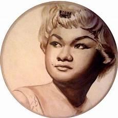 etta portrait used drum skin jazz singer original painting portrait