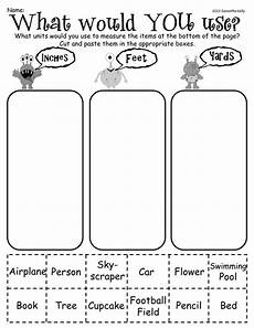 measurement worksheets not starting at zero 1380 sort objects by the unit you would use to measure them inches and yards this freebie