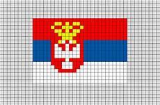 flag of serbia yugoslavia pixel art brik pixel art designs