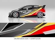 Racing Hatchback Car Wrap Decal And Sticker Design Vector