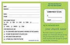 pledge cards for churches pledge card templates my