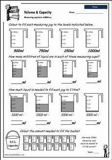 grade 4 measurement worksheets canada 1794 reading a measuring scale to 1000ml click to with images learning math math